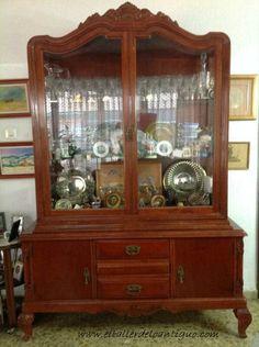 2-La-belleza-decapé-blanco-antiguo China Cabinet, Sweet Home, Storage, Diy, Furniture, Home Decor, Bed Room, Ideas, Home