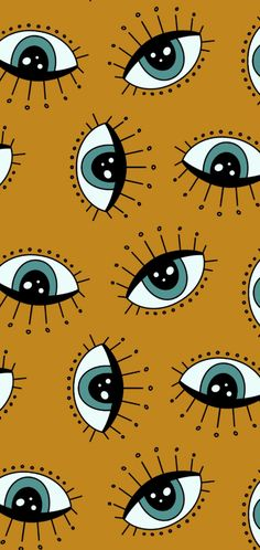 Pattern Wallpaper, Iphone Wallpaper, Crazy Eyes, Phone Backgrounds, Aesthetic Wallpapers, Backdrops, Lashes, Beautiful Pictures, Illustration