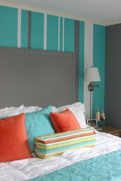 bedroom decorating ideas with turquoise and other colors Decorative Bedroom