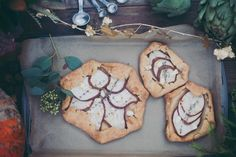 Pear, Herb, and Cheese Tarts in Flaky Pastry | Mintwood Photo Co. | A Forest Fairy Tale Anniversary Shoot with a Bohemian Picnic