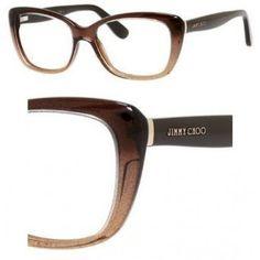 8863760fa15 JIMMY CHOO Eyeglasses 88 02Pi Brown Glitter 53MM