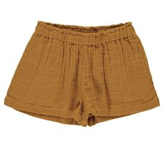 Pumpkin Pie Muslin Kids Shorts — Luna & Curious Gray Label, London Spring, Short Legs, Kids Shorts, Kind Mode, Playsuit, Baby Dress, Cool Style, Organic Cotton