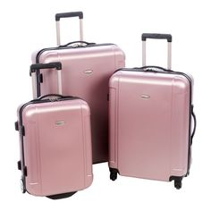 Freedom 3 Piece Luggage Set in Dusty Rose