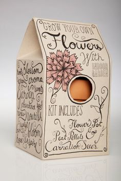 indoor garden kit #packaging | Kristen O'Callaghan #design #packaging