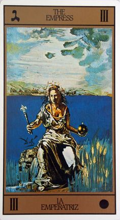 Salvador Dali tarot luxury edition. Printed in Spain, 1984 The cards are over sized  and edged in gold.
