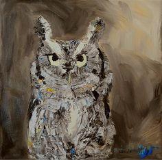 Screech-12x12 Oil Painting