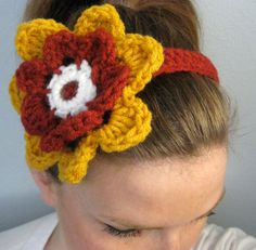 USC Trojans Flower Headband or choose your own team by LapofLuxury, $12.00