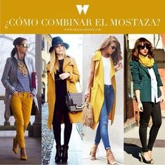 Cómo combinar el color mostaza en tu ropa de invierno - Outfits mostaza - El Cómo de las Cosas Yellow Shirts, Winter Looks, Shirt Outfit, Clothes For Women, Trending Outfits, Womens Fashion, Yellow Outfits, Sweaters, Style