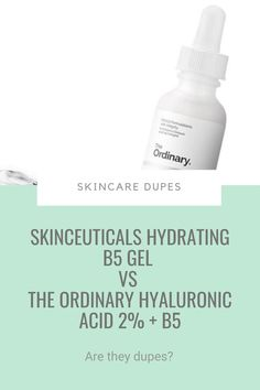 You'd think the higher the price, the better a product works, right?  Not necessarily. Take The Ordinary Hyaluronic Acid 2%   B5. It's only £5.90 but it works better than – and is a great dupe for – Skinceuticals Hydrating B5 Gel (£65.00). Yes, really. Click pin to find out why #skincaredupes Acne Skin, Acne Prone Skin, The Ordinary Hyaluronic Acid, Azelaic Acid, The Ordinary Skincare, Drugstore Skincare, Glowy Skin, Salicylic Acid, Beauty Recipe