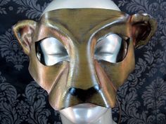 Lioness Leather Mask by kmickel on Etsy, $94.00