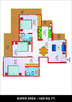 If you are looking for floor plan of Unibera Towers Noida Extension then visit Futurefortune.co. There you can see all 2/3/4 bhk flats plan with their size. At Future Fortune you can also check price list.
