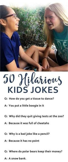 Hilarious Jokes For Kids Kids jokes are sure to bring a smile and some laughter…. Hilarious Jokes For Kids Kids jokes are sure to bring a smile and some laughter. Here are over 50 hilarious jokes to keep kids laughing. Gentle Parenting, Kids And Parenting, Parenting Humor, Parenting Hacks, Parenting Goals, Toddler Activities, Activities For Kids, Jokes And Riddles, Jokes Kids