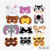 oriental trading company...cute masks for non fiction animal unit writing celebration