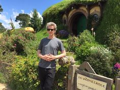 When in New Zealand, do as nerds do. This is an actor who has embraced his nerdiness to all degrees. So it's no surprise he looked like an excited, majestically pale Time Lord wizard touring the Hobbiton set. Bonus: While he was there he might've gotten Peter Jackson on board to direct an episode of Doctor Who! At least he teased us with the idea.