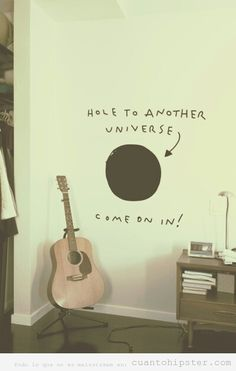 Hipster decoration... This would be cute if I would use chalk board paint for the hole.