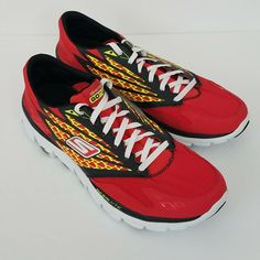 a07beb841 Skechers GORUN RIDE Running Shoes Red and Neon Yellow Mens US Size 12   fashion  clothing  shoes  accessories  mensshoes  athleticshoes (ebay link)