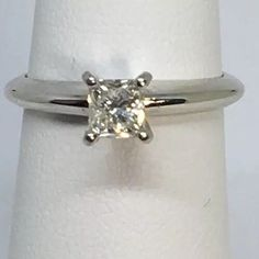 0.4 carat diamond ring $350 VS clarity G COLOR 14 k white gold save %90 princes #Solitaire #Engagement