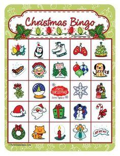 Christmas Bingo - Printable Bingo Games 12, 25, 40 Cards