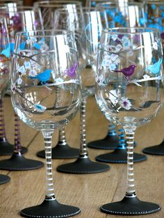 d0ed0f1e29d here comes the bride... hand painted chalkboard wine glasses from chic  chalk designs