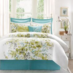 4-Pc Harbor House Amelia King Comforter Set Blue Green Floral French Garden  #HarborHouse #FrenchCountry