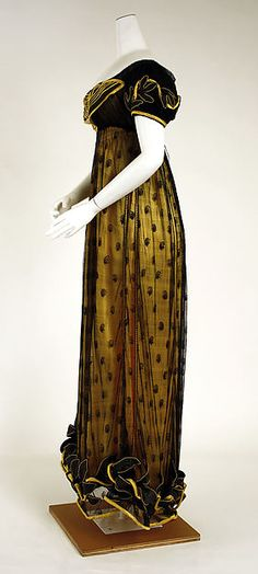 Dress (image 2) | British | 1818 | silk | Metropolitan Museum of Art | Accession Number: 1985.27.2