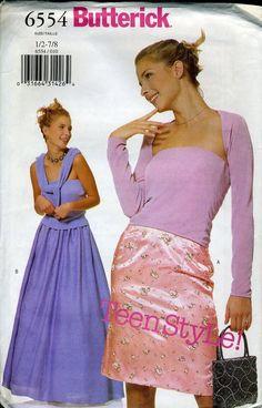 Butterick 2000s prom dress