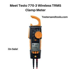 Discover Testo 770-3 Hook Clamp Meter with TRMS, InRush, 600A, Watts, Power Factor, Bluetooth. Learn more and Buy on Sale at: http://www.testersandtools.com/testo-770-3-digital-clamp-meter-true-rms-bluetooth.html