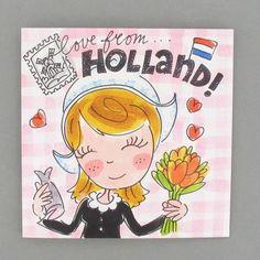 Blond kaart Love from Holland