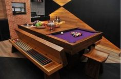 Modern furniture, billiard tables, and transformer ideas for small spaces BilliardFactory.com