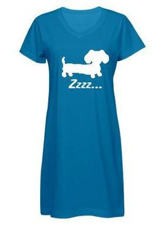 Dachshund Sleep Shirt in Blue or Pink – The Smoothe Store