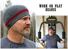 Work or Play Beanie by ELK Studio #crochet #free pattern