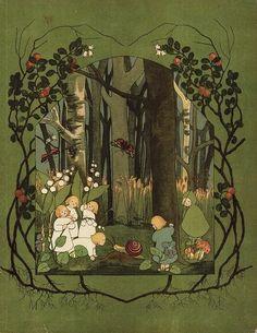 Van der Wortelkindertjes. Spring in the woods.