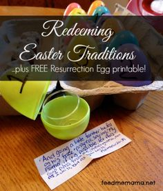Redeeming Easter Traditions | FREE Resurrection Eggs Printable! | Feed Me Mama