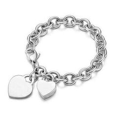 http://amzn.to/H4SkFI       #Sterling Silver Heart Tag and Heart Lock Charm #Bracelet       Sterling Silver Order