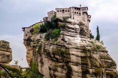 Varlaam Monastery on the top of a massive rock.