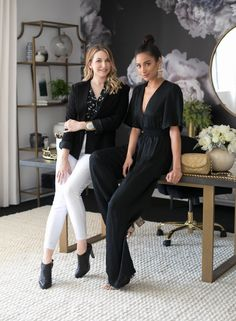Actress Shay Mitchell and Decorist Elite Designer Stefani Stein chose The Shade Store's Ripple Fold Drapery in Linen Blend for Shay's chic office makeover. Custom Drapes, Office Makeover, Shay Mitchell, Britney Spears, Drapery, Hollywood, Actresses, Chic, Design