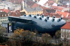 museu-na-austria - Fotos: ousados, geniais, loucos, feios ou bonitos. Confira 18 projetos incríveis bolados por arquitetos — e que se tornaram realidade