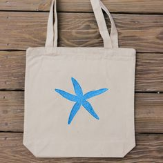 Beach wedding idea... Starfish Tote Bag  Beach Lover by HandmadeandCraft on Etsy #wedding
