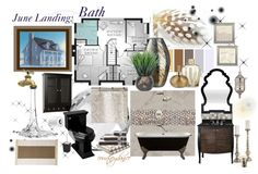"""June Landing: Bath"" by courtneydanice ❤ liked on Polyvore"