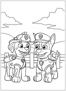 paw patrol marshall talking with chase coloring pages printable and coloring book to print for free. Find more coloring pages online for kids and adults of paw patrol marshall talking with chase coloring pages to print. Shopkins Colouring Pages, Cartoon Coloring Pages, Disney Coloring Pages, Coloring Pages To Print, Free Printable Coloring Pages, Adult Coloring Pages, Coloring Pages For Kids, Coloring Books, Kids Coloring