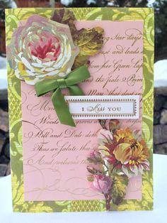 Miss You Friendship Card Anna Griffin by ThePoppyShoppeCards