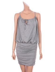 VICTORIA'S SECRET SEXY BLOUSON TEE DRESSES SPAGHETTI STRAP BEACH SUNDRESS, GRAY #VICTORIASSECRET #Blouson #SummerBeach