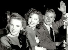 Judy Garland, Ann Rutherford and Mickey Rooney.