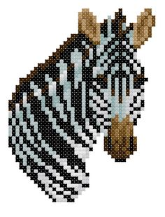 Burchell's Zebra counted cross-stitch chart