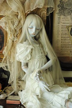 西條冴子先生ドール | †Vertus Maria†~天球儀少女~ Ooak Dolls, Barbie Dolls, Panda Eyes, Reborn Toddler Dolls, Enchanted Doll, Custom Gundam, Art Sites, Lace Outfit, Living Dolls