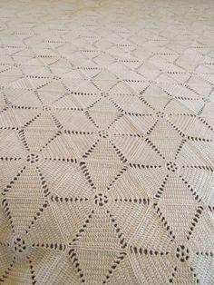 Early Southern Ohio River Estate Antique Star Crochet Bedspread. | eBay!