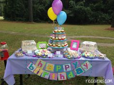 Cake table! Sweet Shop First Birthday Party #birthday #firstbirthday #sweetshop