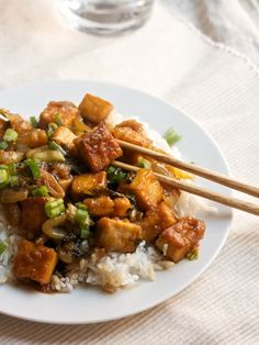 Sweet-and-Sour Tofu with Bok Choy - Vegan