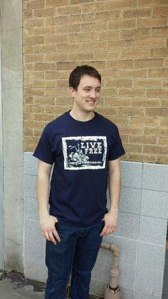 Men's T-shirt navy- Short sleeve - spring style fashion @ Black Bear Trading Asheville N.C.