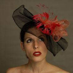 Joy Scott Millinery. This piece and more at http://www.fashionattheraces.com/store/